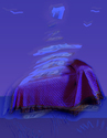 Tom's Purple Comforter with Purple Sky